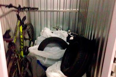 Хранение велосипедов и шин в боксах