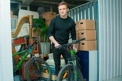 Хранение велосипедов, арф, коробок и вещей в боксах
